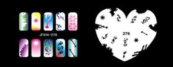 Трафарет для росписи ногтей аэрографом JFH14-276