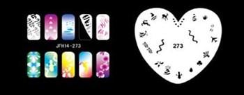 Трафарет для росписи ногтей аэрографом JFH14-273