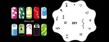 Трафарет для росписи ногтей аэрографом JFH15-281