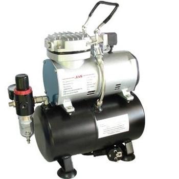 Компрессор для аэрографа JAS 1208, с регулятором давления, автоматика, два режима работы, ресивер