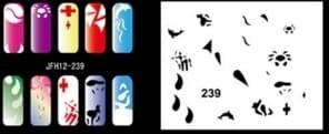 Трафарет для росписи ногтей