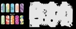 Трафарет для росписи ногтей аэрографом JFH4-67