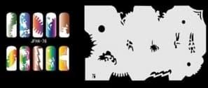 Трафарет для росписи ногтей аэрографом JFH4-76