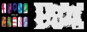 Трафарет для росписи ногтей аэрографом JFH5-89