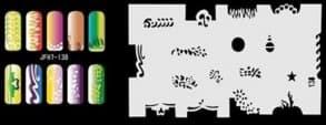 Трафарет для росписи ногтей аэрографом JFH7-138