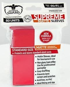 Протекторы матовые красные 80 штук