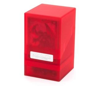 """Коробочка """"Монолит"""" с отделением для кубиков рубиновая (NEW)"""