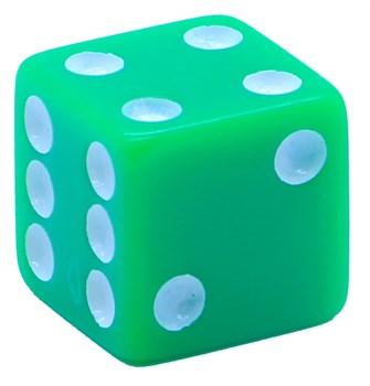 Кубик D6 «Казино» зеленый 16мм