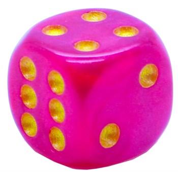 Кубик D6 «Кристалл» кирпичный 14мм