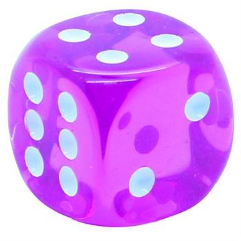 Кубик D6 «Кристалл» сиреневый 14мм