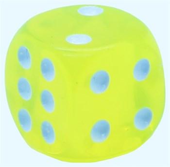 Кубик D6 «Кристалл» желтый 14мм