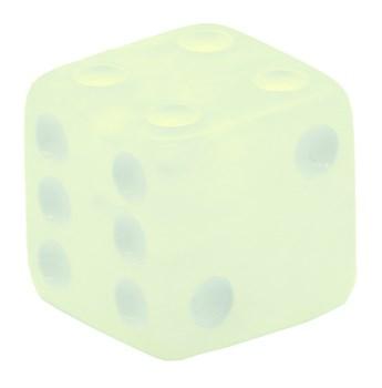 Кубик D6 «Перламутр» белый 16мм