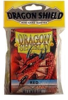 """ПРОТЕКТОРЫ МИНИ """"DRAGON SHIELD"""" (РАЗНОЦВЕТНЫЕ, 50 ШТ.): КРАСНЫЕ АТ-10107"""
