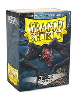 Dragon Shield - Протекторы матовые черные 100 штук