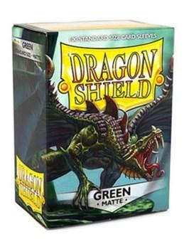 Dragon Shield - Протекторы матовые зеленые 100 штук