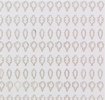 Лист Дуба L (203 Штуки, 3,5*5 Мм) Белый