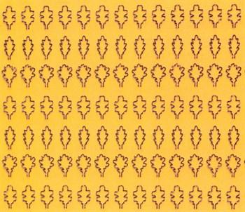Лист дуба L (203 штуки, 3,5*5 мм) ОСЕННИЙ