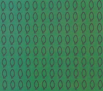 Лист овальный L (294 штуки 2,1*4,1 мм) ЗЕЛЕНЫЙ