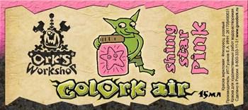 Краска для аэрографии Colork Air shiny star Pink  15мл