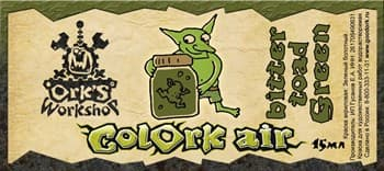 Краска для аэрографии Colork Air bitter toad Green 15мл
