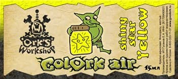 Краска для аэрографии Colork Air shiny star Yellow 15мл