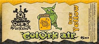 Краска для аэрографии Colork Air bee Yellow 15мл