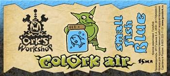 Краска для аэрографии Colork Air small fish Blue 15мл