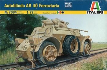 БРОНЕАВТОМОБИЛЬ AUTOBLINDA AB 40 FERROVIARIA