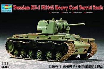 Танк  КВ-1 1942 г. с тяж. башней (1:72)