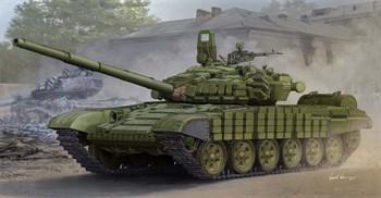 Танк  T-72Б/Б1 с реактивной бронёй контакт-1 (1:35)