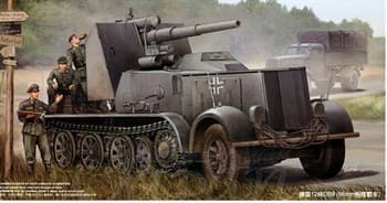 САУ  Sd.Kfz.8 mit Flak 18 Selbsfahrlafette (1:35)