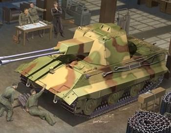 Немецкий зенитный танк E-50