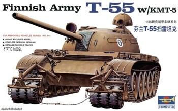 Танк T-55 с КМТ-5 (1:35)