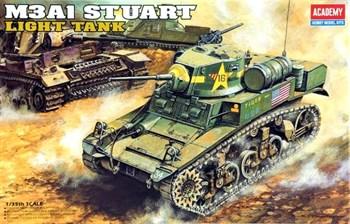 Танк  U.S. M3a1 Stuart (1:35)