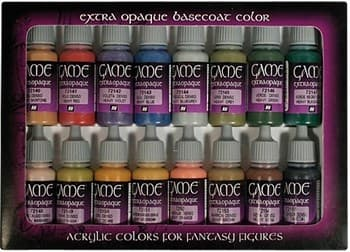 Game Color Extra Opaque Colors (16) 17 ml.