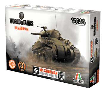 "Купите World of Tanks. Сборная модель танка M4 Sherman в масштабе 1:56. ""Лавка Орка"" Интернет-магазин. Доставка по РФ от 3 дней."
