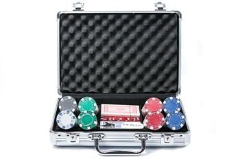 """""""Diсe 200"""",  Профессиональный набор для игры в покер.  200фишек по 11,5 грамм без номинала. 2 колоды карт."""