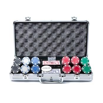 """""""Diсe 300"""",  Профессиональный набор для игры в покер.  300фишек по 11,5 грамм без номинала. 2 колоды карт."""