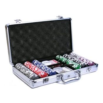 """""""Crown 300"""",  Профессиональный набор для игры в покер.  300фишек по 14 грамм. 2 колоды карт  с пластиковым покрытием."""