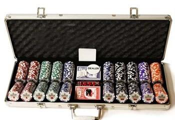 """""""Premium 500"""", набор для игры в покер, 500 фишек по 11,5 грамм."""