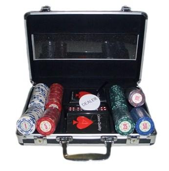 """""""Casino Royale  200"""" Профессиональный набор для игры в покер.200 фишек по 14 грамм, 2 колоды карт."""