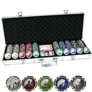 """""""Royal Flash 500L"""", Набор для покера в кожаном кейсе."""