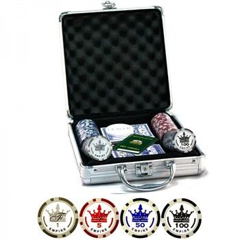 """""""Empire 100"""", набор для игры в покер, 100 фишек по 11,5 грамм."""