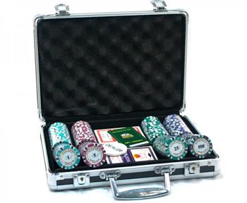 """""""Nightman Premium 200""""Профессиональный набор для игры в покер.200 фишек по 14грамм"""