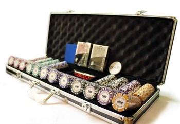 """""""Nightman Premium 500""""Профессиональный набор для игры в покер.500 фишек по 14грамм"""