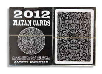 """Коллекционные карты """"Mayan Cards - 2012"""", 54 листа, 100% пластик, классический индекс. Размер покер."""