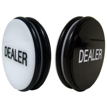 "Dealer 3"" Deluxe, Кнопка Дилера, диаметр 7,5см, толщина 4см."