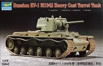 Танк  КВ-1 мод. 1942 г. (1:72)