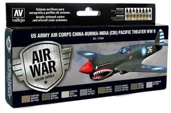 НАБОР MODEL AIR - US ARMY CORPS CHINA-BURMA-INDIA PACIFIC THEATER (CBI) WWII