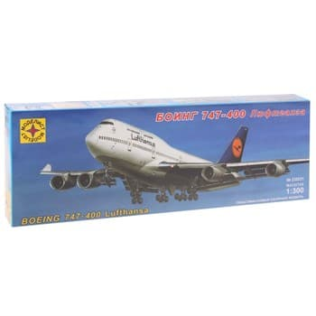 """Купите Самолет Боинг 747-400 """"Люфтганза"""" (1:300) в интернет-магазине «Лавка Орка». Доставка по РФ от 3 дней."""